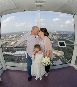 Destination Wedding on Orlando Eye